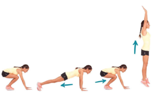 Burpees are a great alternative to jumping jacks