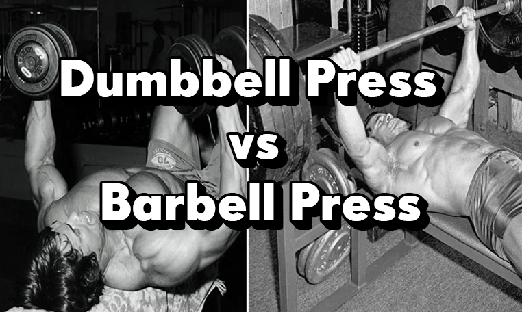 Dumbbell Press vs Barbell ,Bench, Press, How Are They Different, Is One Better