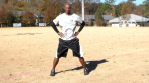 Another variation of the jumping jacks are the Half-Jacks