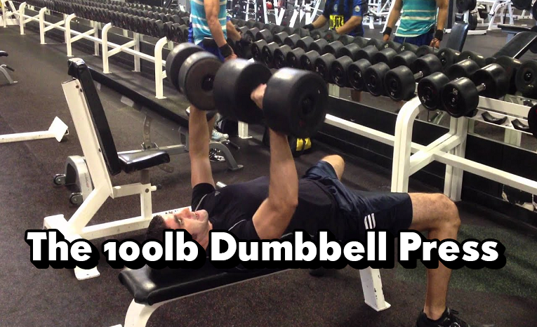 The 100lb Dumbbell Press, How Hard Is It, Should You Perform It - Safe, Overkill