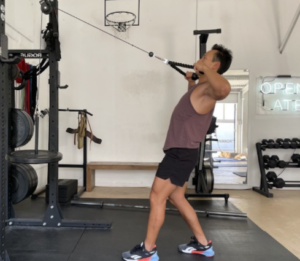 Cable Rope Face Pull is a variation of the face pulls