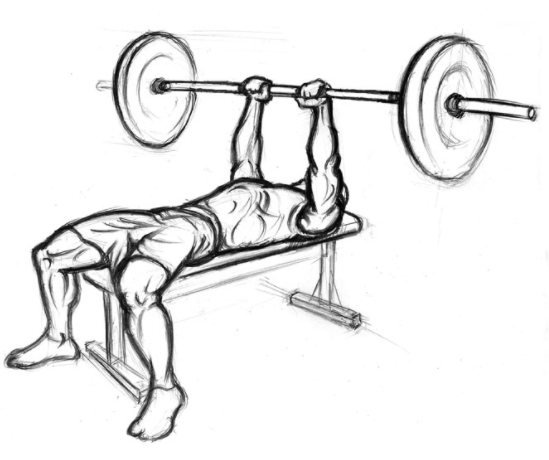 Care has to be observed when performing close grip bench press