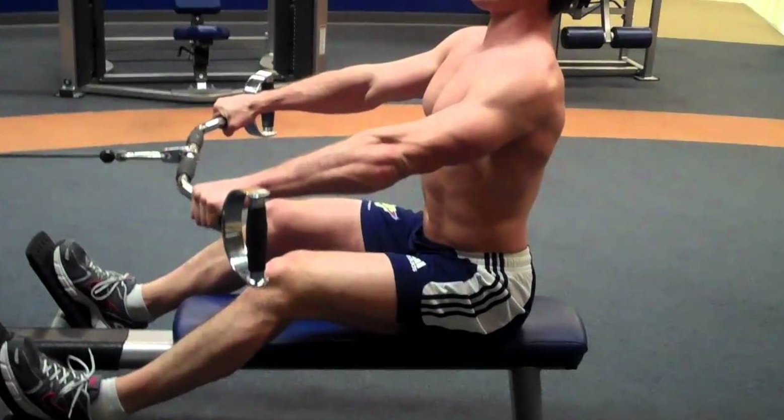 Seated Row Exercise can build the upper body strength